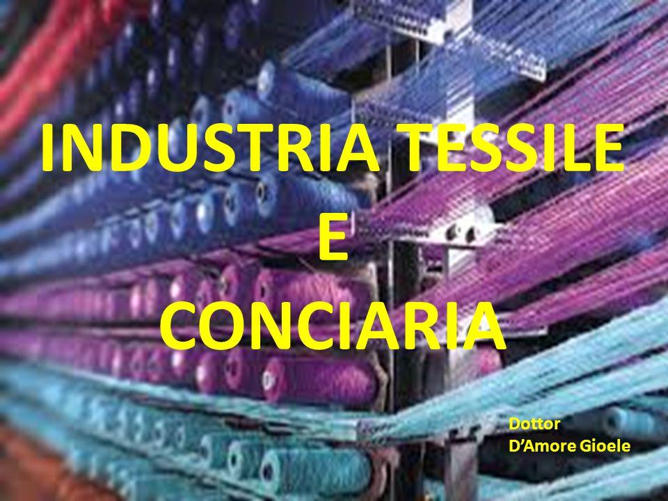 DEFINIZIONI INDUSTRIA TESSILE: lavorazione di fibre animali, vegetali, minerali e sintetiche INDUSTRIA CONCIARIA: lavorazione di pelle animale