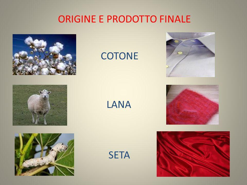 ORIGINE E PRODOTTO FINALE COTONE LANA SETA