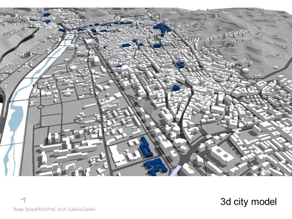 3d city model Resp. Scientifico Prof. Arch. Gabrio Celani >