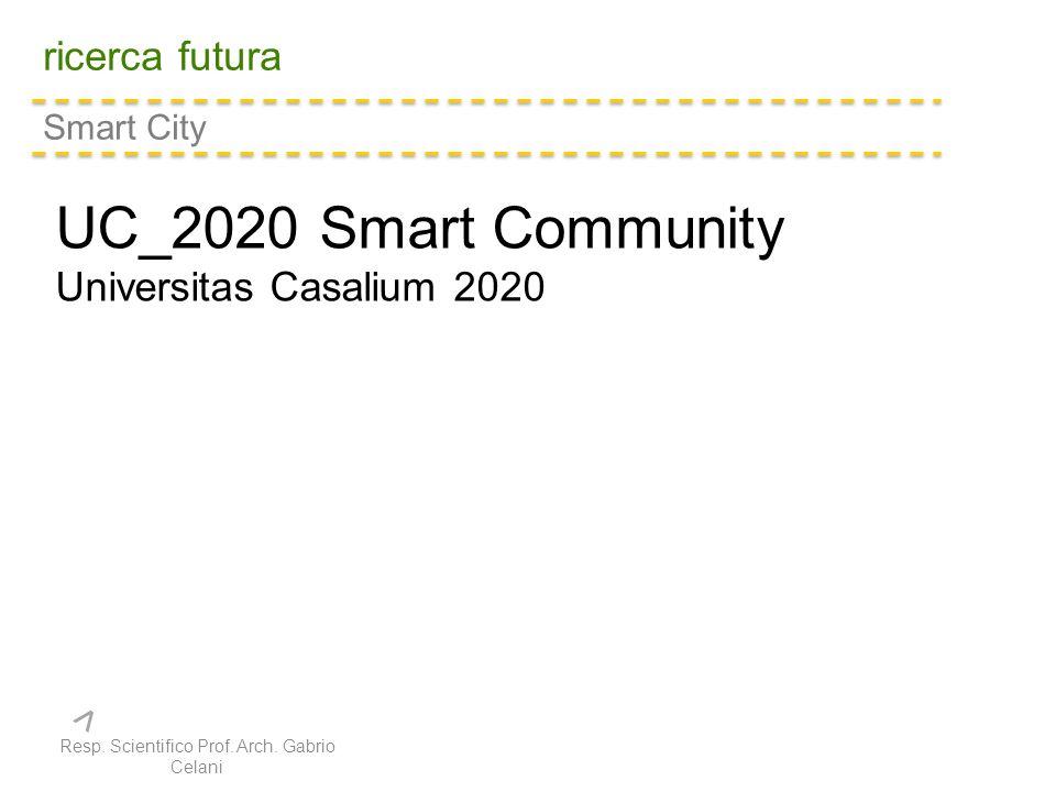 ricerca futura Smart City UC_2020 Smart Community Universitas Casalium 2020 Resp.