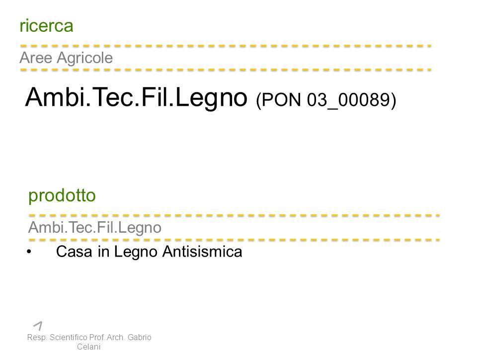 ricerca Aree Agricole Ambi.Tec.Fil.Legno (PON 03_00089) prodotto Ambi.Tec.Fil.Legno Casa in Legno Antisismica Resp.
