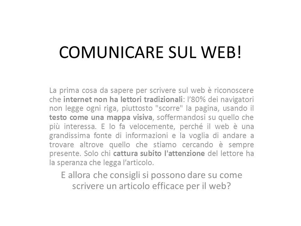 COMUNICARE SUL WEB.