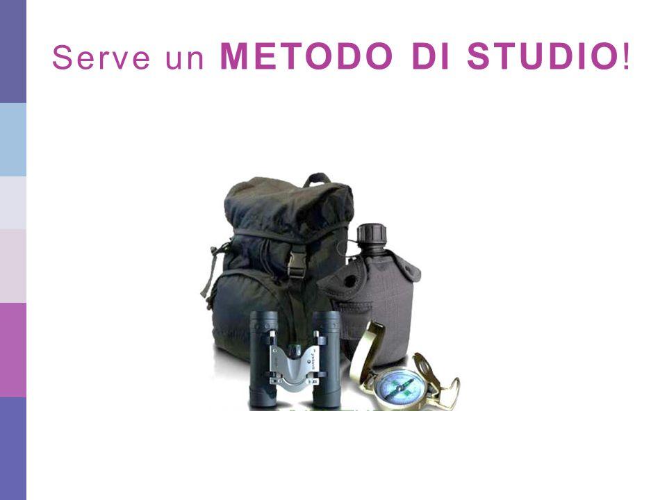 Serve un METODO DI STUDIO!