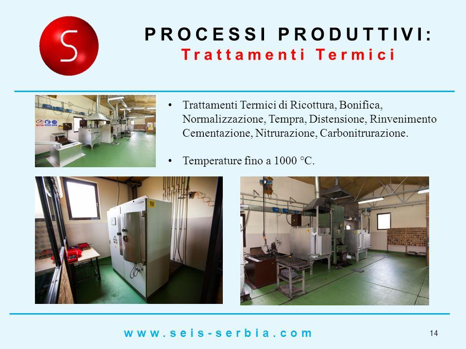 Trattamenti Termici di Ricottura, Bonifica, Normalizzazione, Tempra, Distensione, Rinvenimento Cementazione, Nitrurazione, Carbonitrurazione.