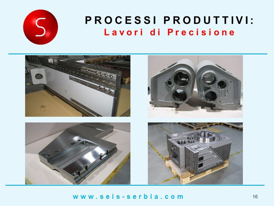 PROCESSI PRODUTTIVI: Lavori di Precisione 16 www.seis-serbia.com