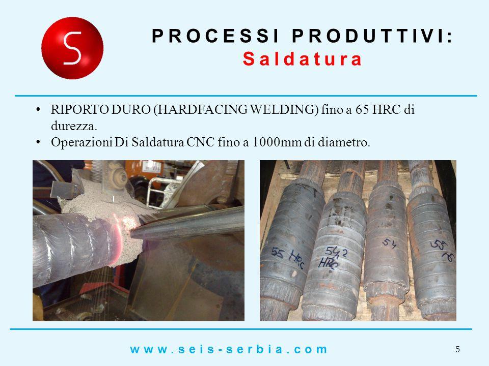 RIPORTO DURO (HARDFACING WELDING) fino a 65 HRC di durezza.