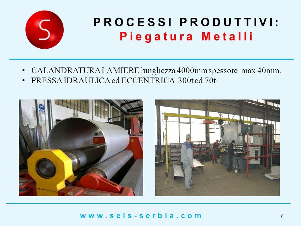 PROCESSI PRODUTTIVI: Lavori Di Carpenteria 8 www.seis-serbia.com