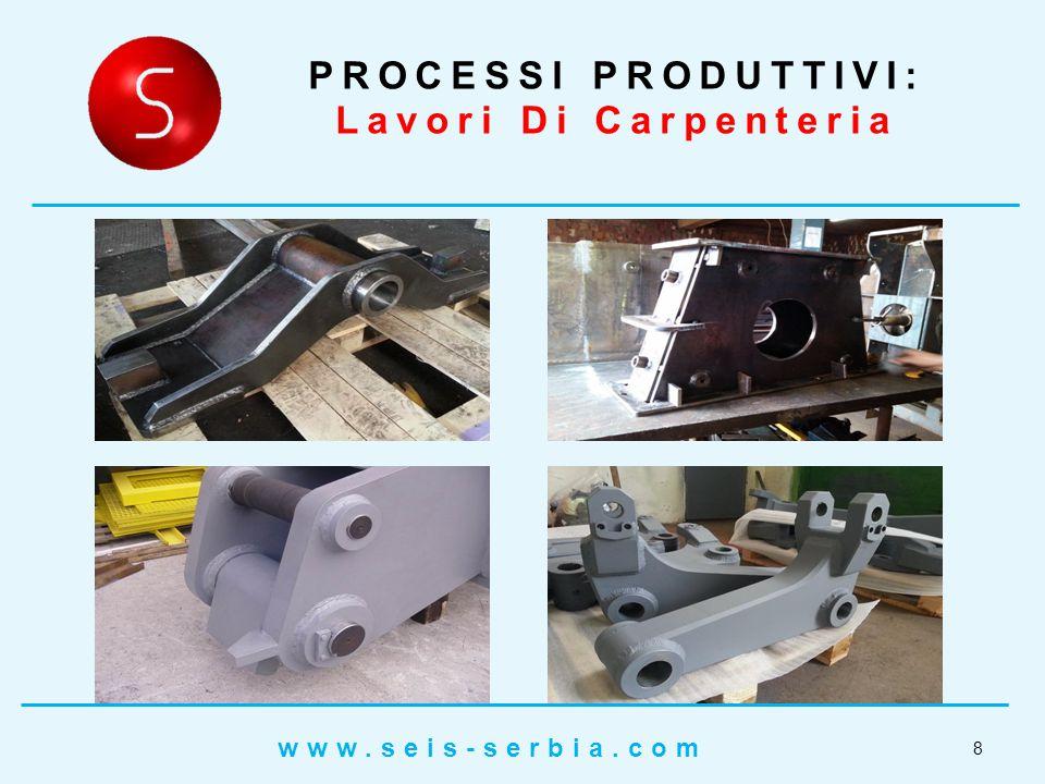 PROCESSI PRODUTTIVI: Lavori Di Carpenteria 9 www.seis-serbia.com