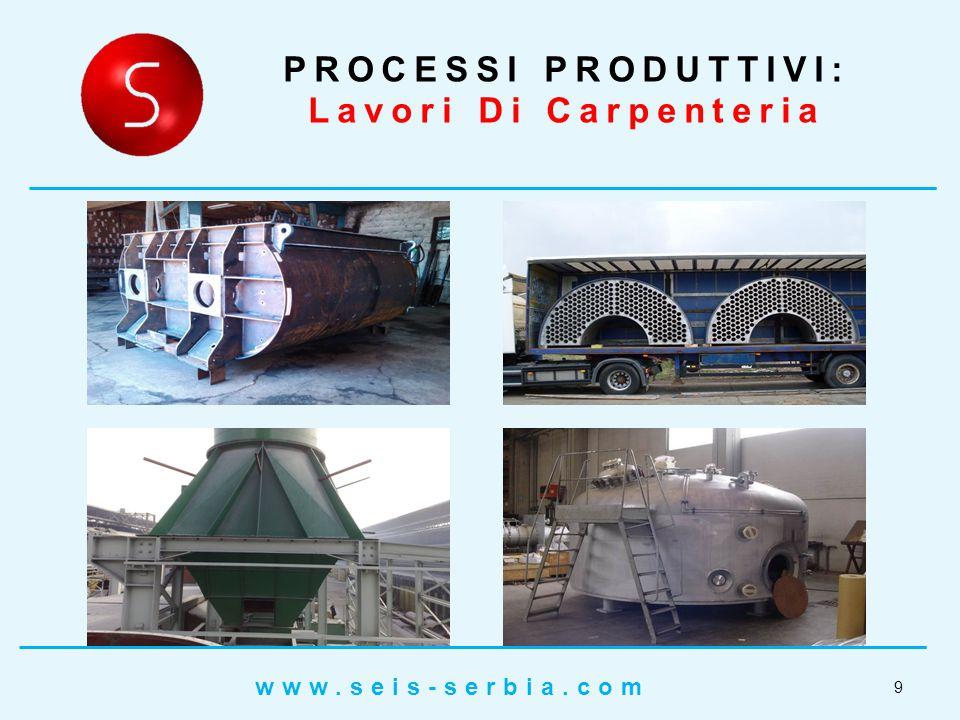PROCESSI PRODUTTIVI: Lavori Di Carpenteria 10 www.seis-serbia.com