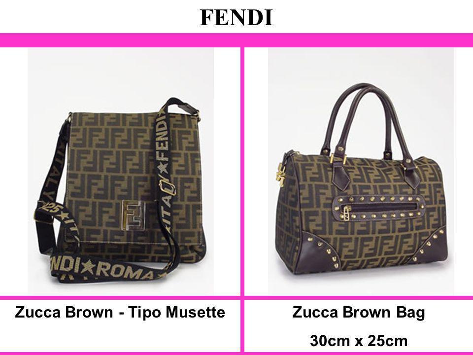 Zucca Brown - Tipo Musette FENDI Zucca Brown Bag 30cm x 25cm