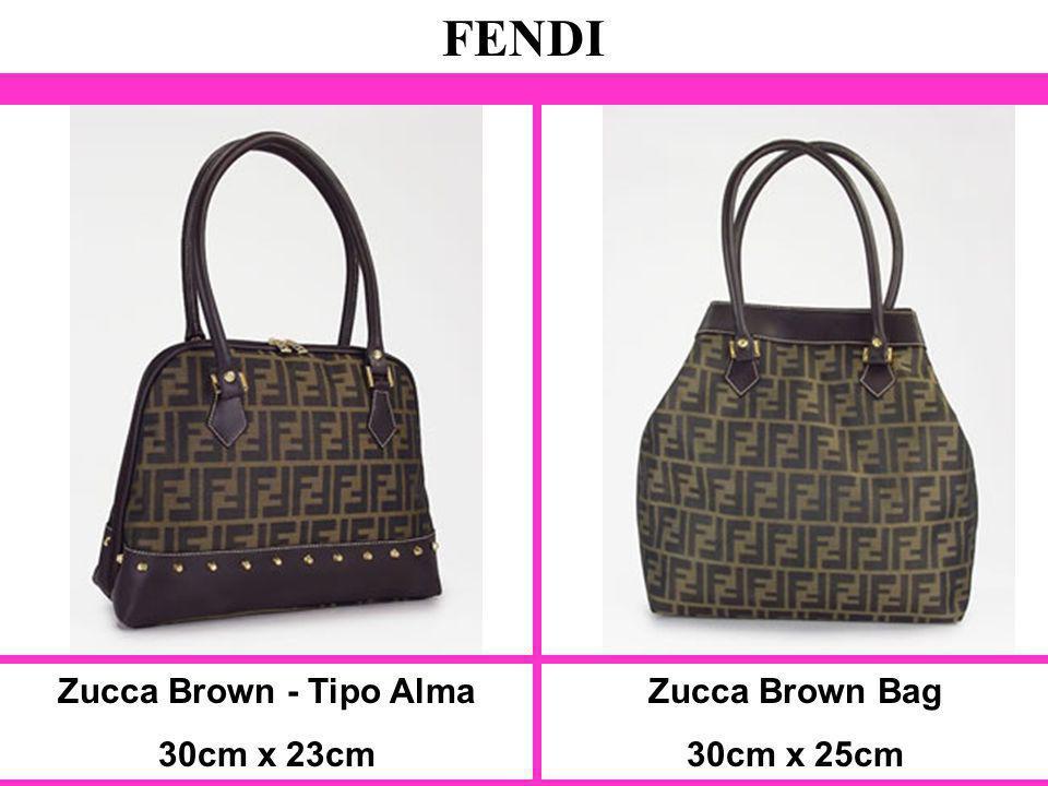 Zucca Brown - Tipo Alma 30cm x 23cm FENDI Zucca Brown Bag 30cm x 25cm