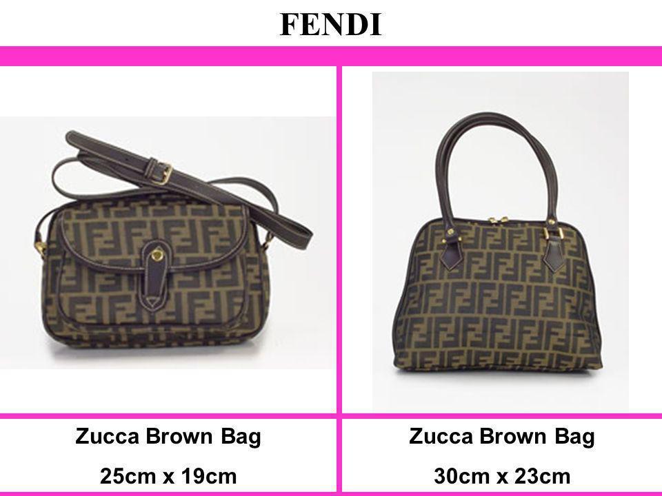 Zucca Brown Bag 25cm x 19cm FENDI Zucca Brown Bag 30cm x 23cm
