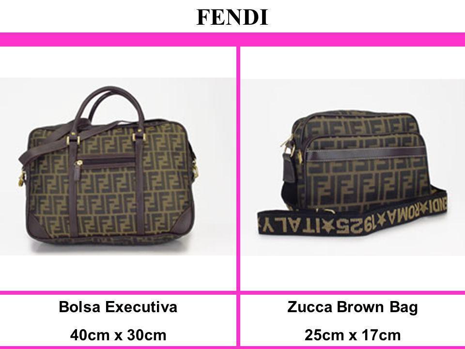 Bolsa Executiva 40cm x 30cm FENDI Zucca Brown Bag 25cm x 17cm