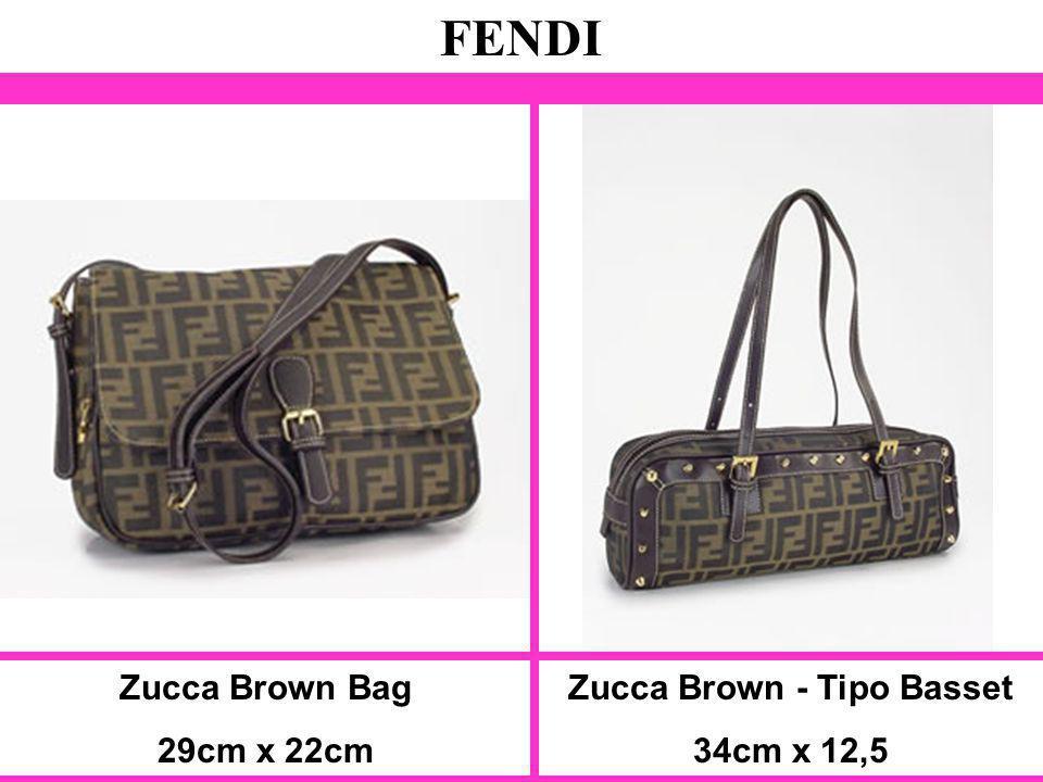 Zucca Brown Bag 29cm x 22cm FENDI Zucca Brown - Tipo Basset 34cm x 12,5
