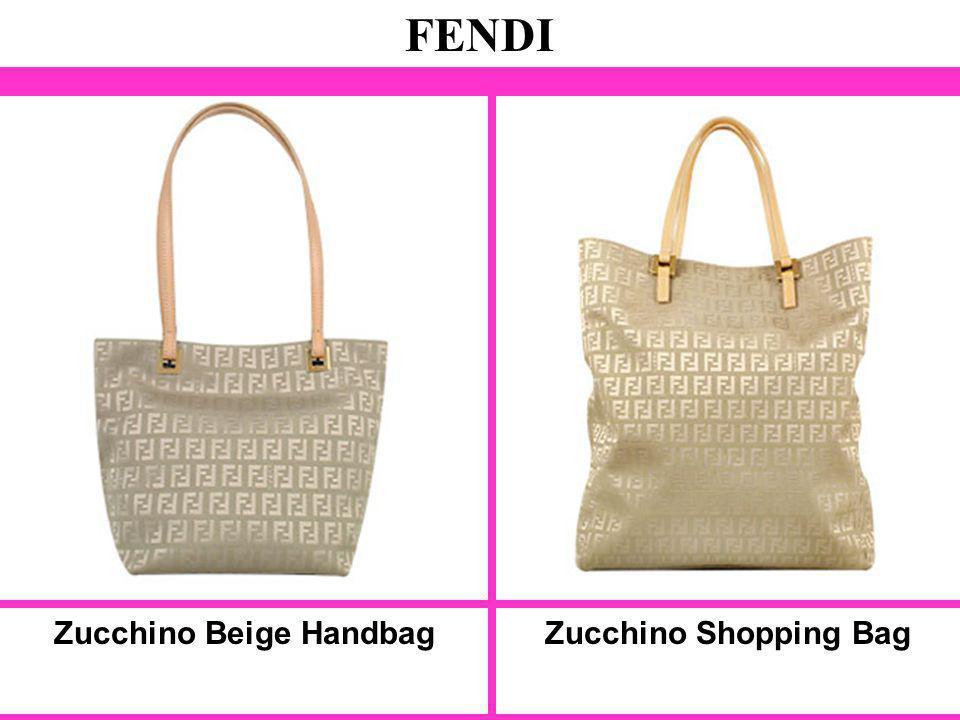 Zucchino Beige Handbag FENDI Zucchino Shopping Bag
