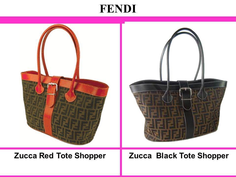 Zucca Red Tote Shopper FENDI Zucca Black Tote Shopper