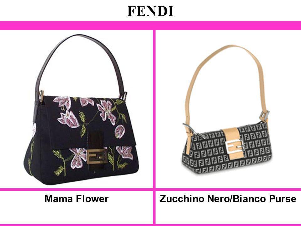 Mama Flower FENDI Zucchino Nero/Bianco Purse