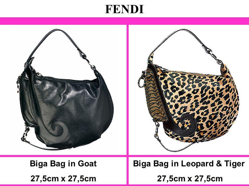 Biga Bag in Goat 27,5cm x 27,5cm FENDI Biga Bag in Leopard & Tiger 27,5cm x 27,5cm