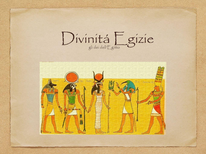 Divinitá Egizie gli dei dell'Egitto