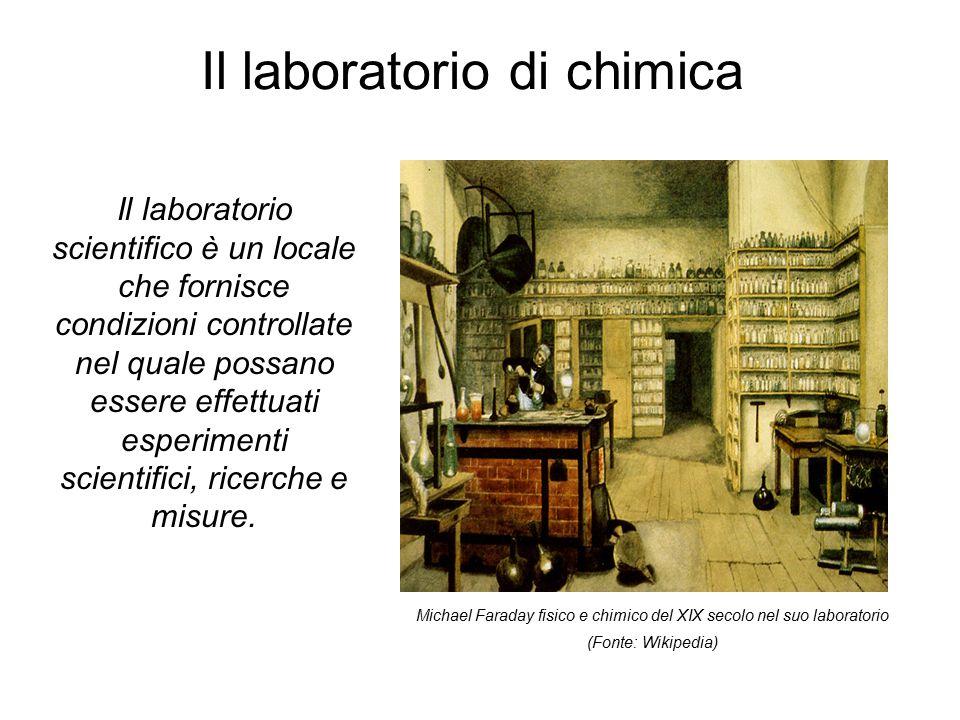 Il laboratorio di chimica Il laboratorio scientifico è un locale che fornisce condizioni controllate nel quale possano essere effettuati esperimenti scientifici, ricerche e misure.
