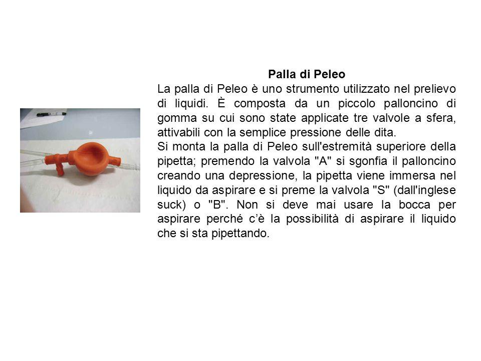 Palla di Peleo La palla di Peleo è uno strumento utilizzato nel prelievo di liquidi.