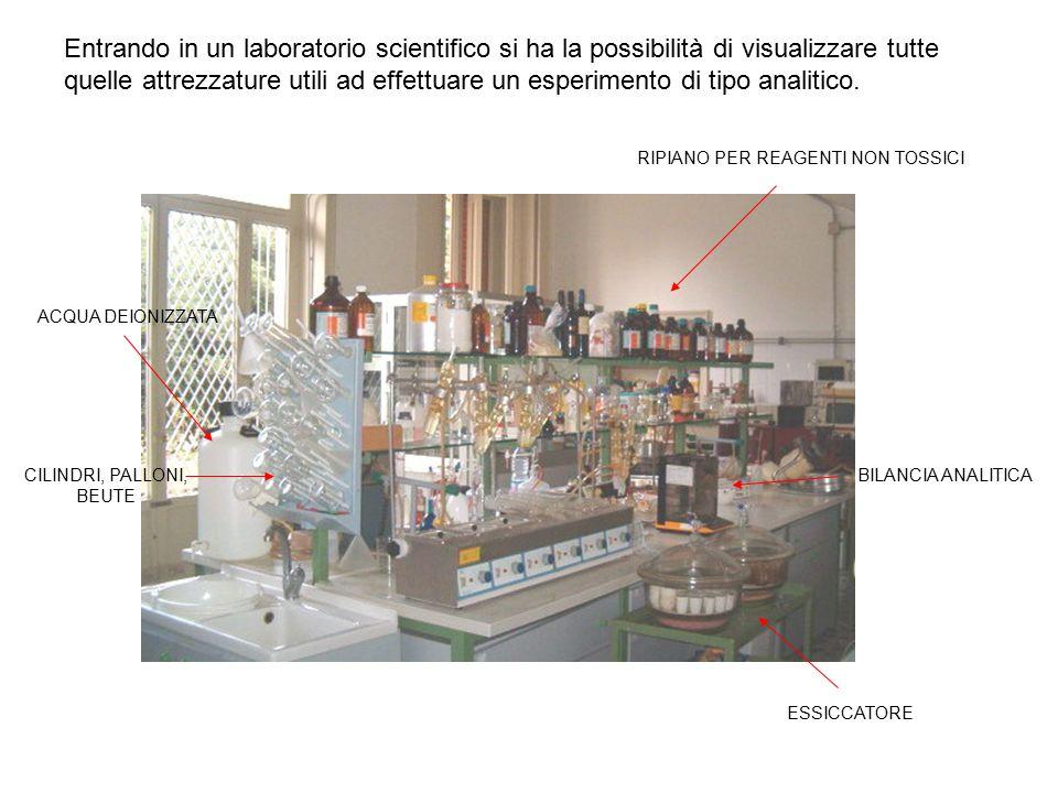 Entrando in un laboratorio scientifico si ha la possibilità di visualizzare tutte quelle attrezzature utili ad effettuare un esperimento di tipo analitico.