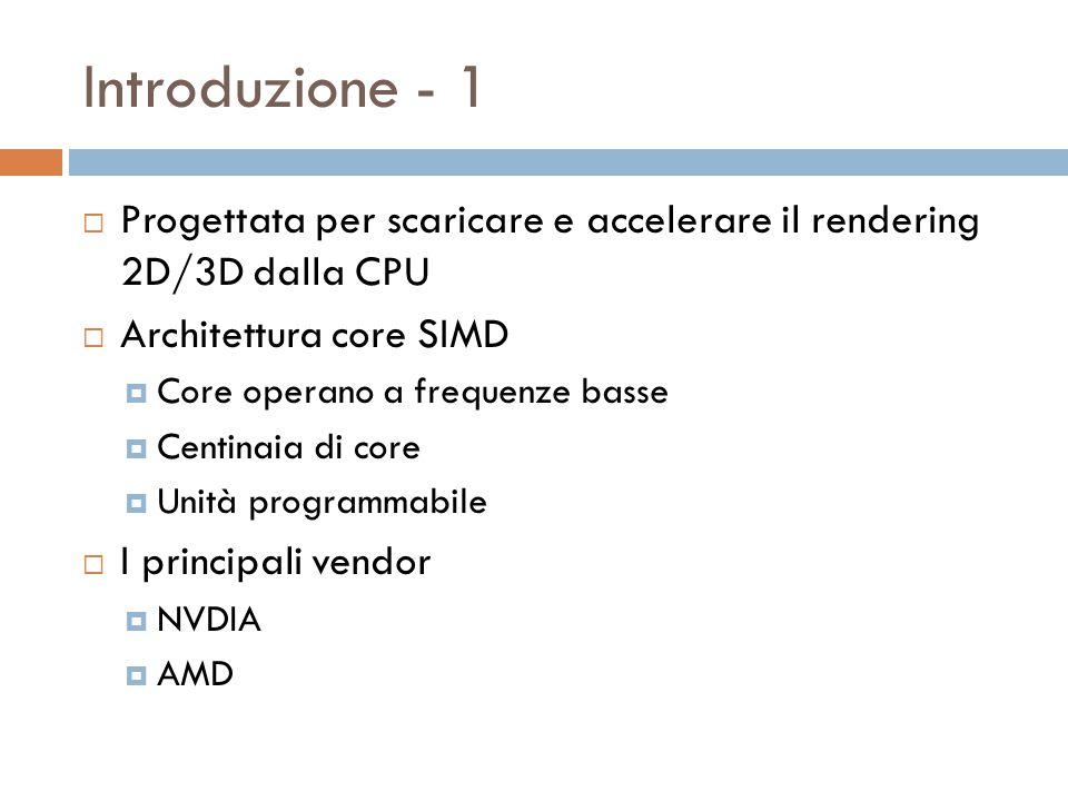 Introduzione - 2  CPU vs GPU