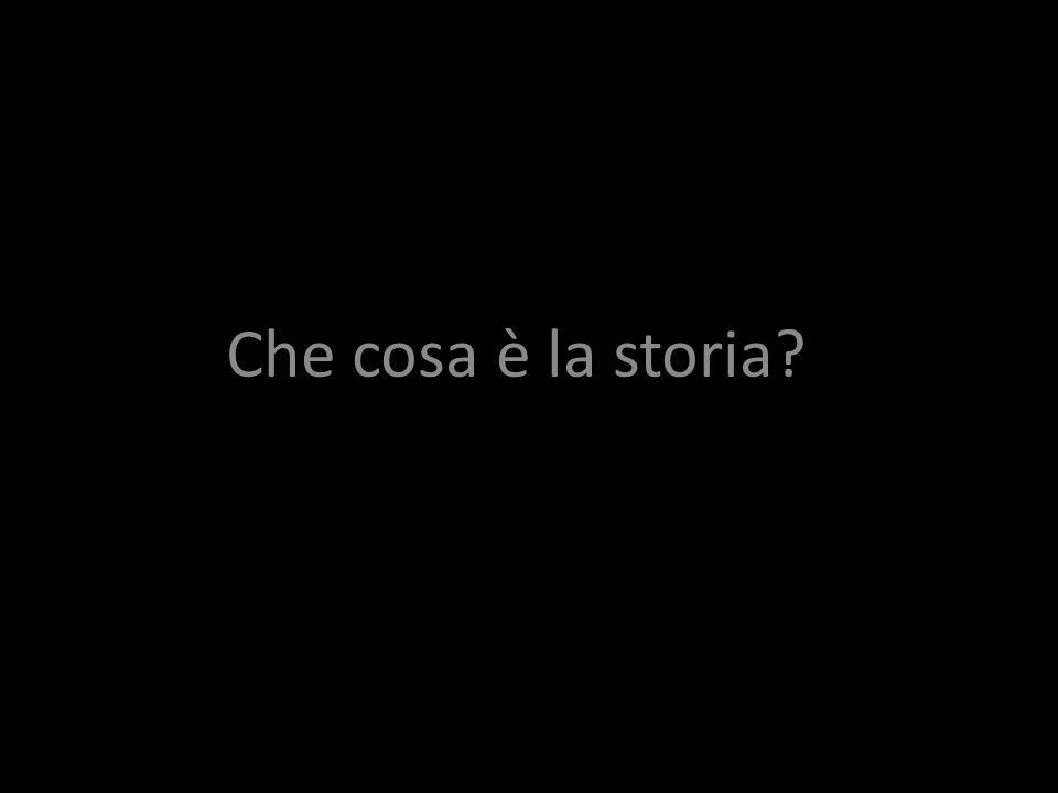 Che cosa è la storia?