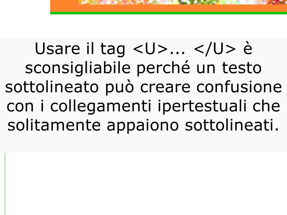 Gli stili logici sono tag che determinano l aspetto del testo in base al presunto scopo della formattazione.