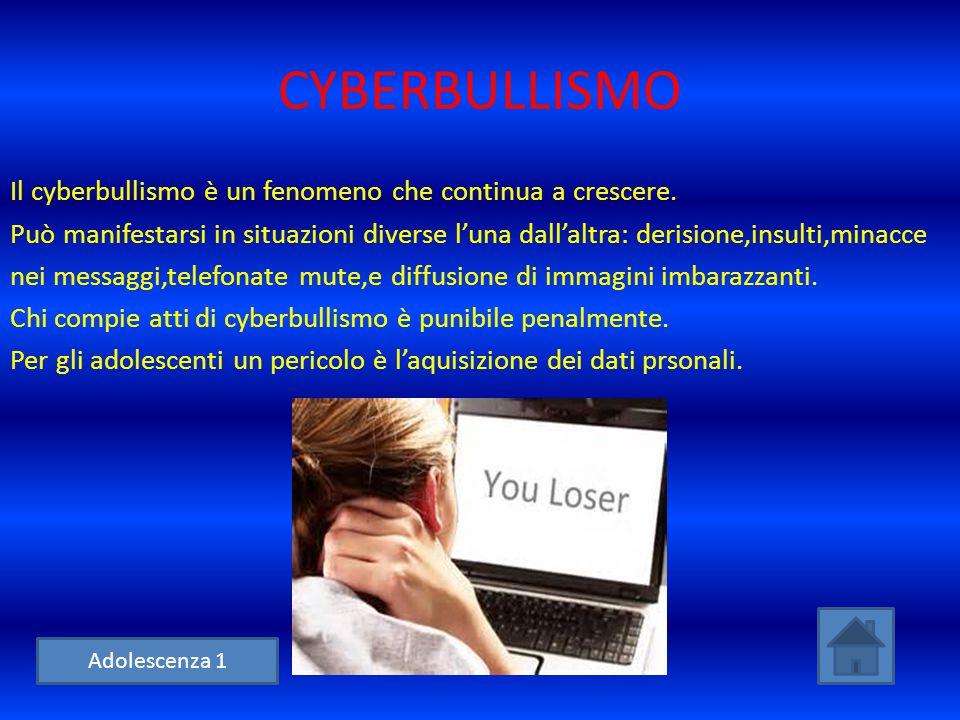 CYBERBULLISMO Il cyberbullismo è un fenomeno che continua a crescere. Può manifestarsi in situazioni diverse l'una dall'altra: derisione,insulti,minac