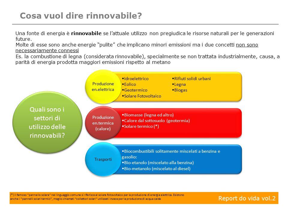 Cosa vuol dire rinnovabile? Una fonte di energia è rinnovabile se l'attuale utilizzo non pregiudica le risorse naturali per le generazioni future. Mol