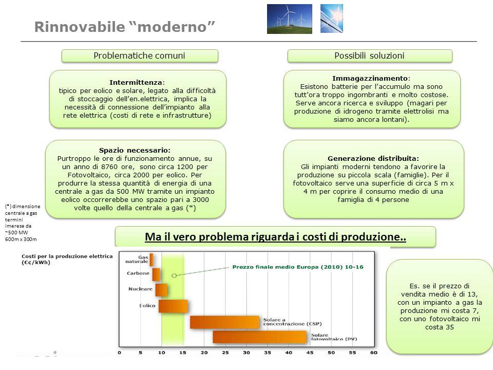 Intermittenza: tipico per eolico e solare, legato alla difficoltà di stoccaggio dell'en.elettrica, implica la necessità di connessione dell'impianto a