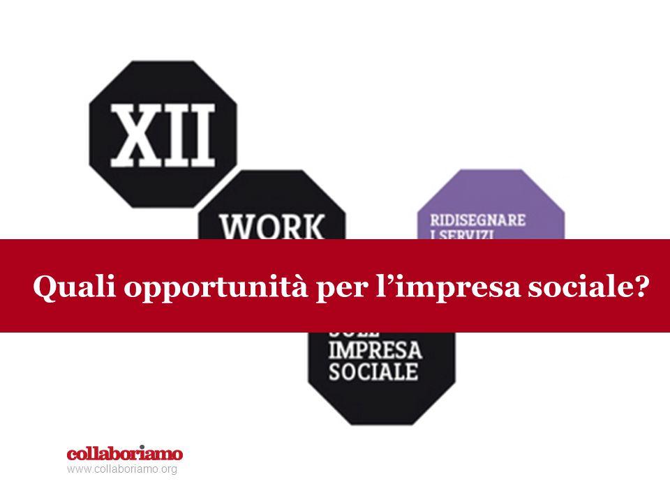 www.collaboriamo.org Quali opportunità per l'impresa sociale?