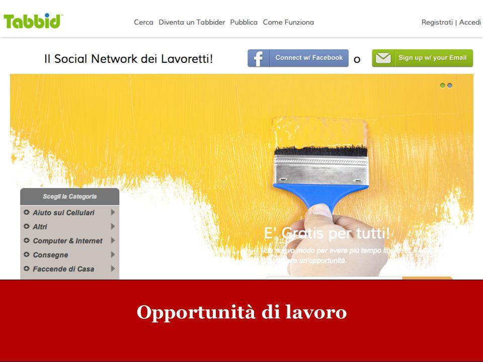 www.collaboriamo.org Opportunità di lavoro