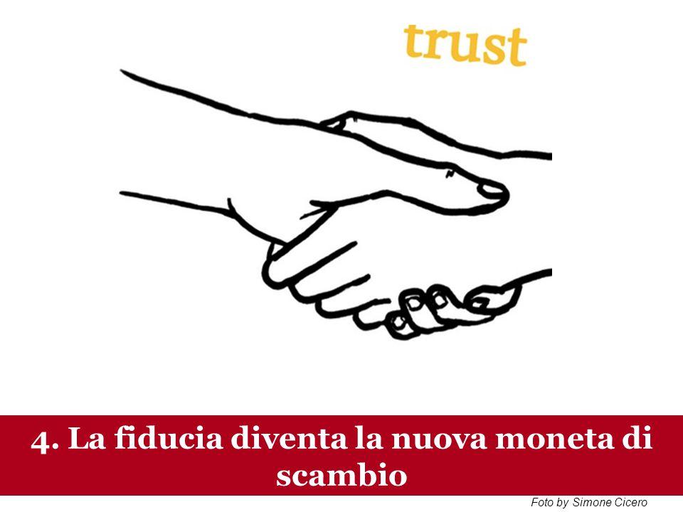 www.collaboriamo.org 3.E la fiducia regola la trasazione, la nuova moneta di scambio 4.