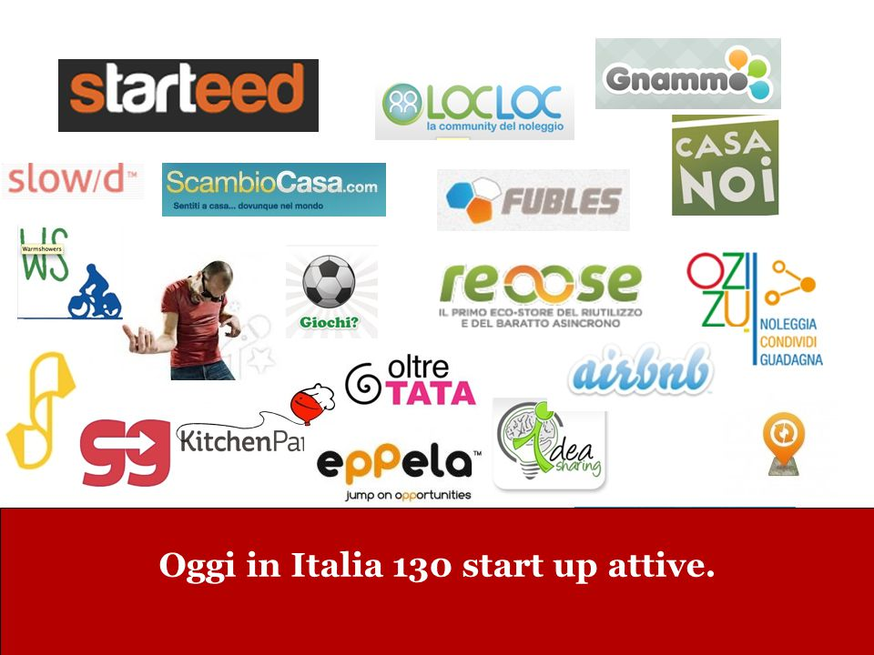 Oggi in Italia 130 start up attive.