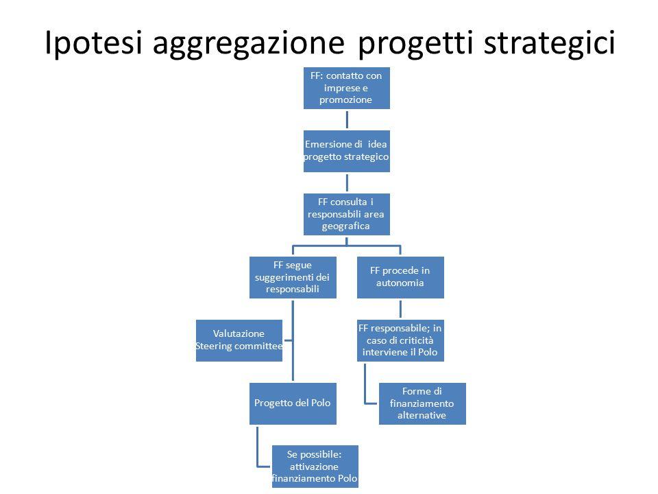 Ipotesi aggregazione progetti strategici FF: contatto con imprese e promozione Emersione di idea progetto strategico FF consulta i responsabili area g