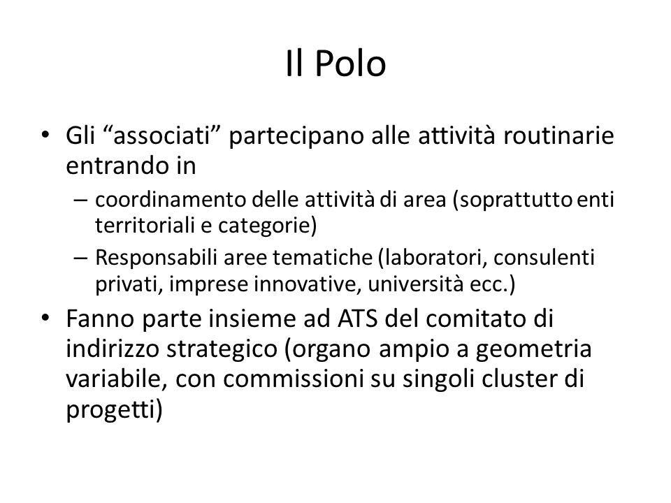 """Il Polo Gli """"associati"""" partecipano alle attività routinarie entrando in – coordinamento delle attività di area (soprattutto enti territoriali e categ"""