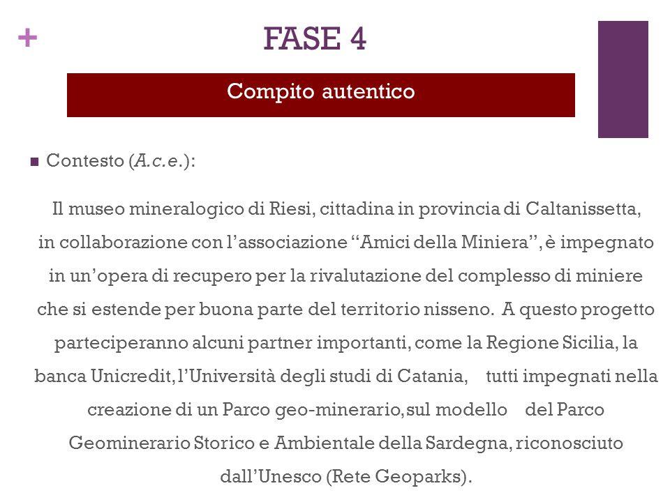 """+ Contesto (A.c.e.): Il museo mineralogico di Riesi, cittadina in provincia di Caltanissetta, in collaborazione con l'associazione """"Amici della Minier"""