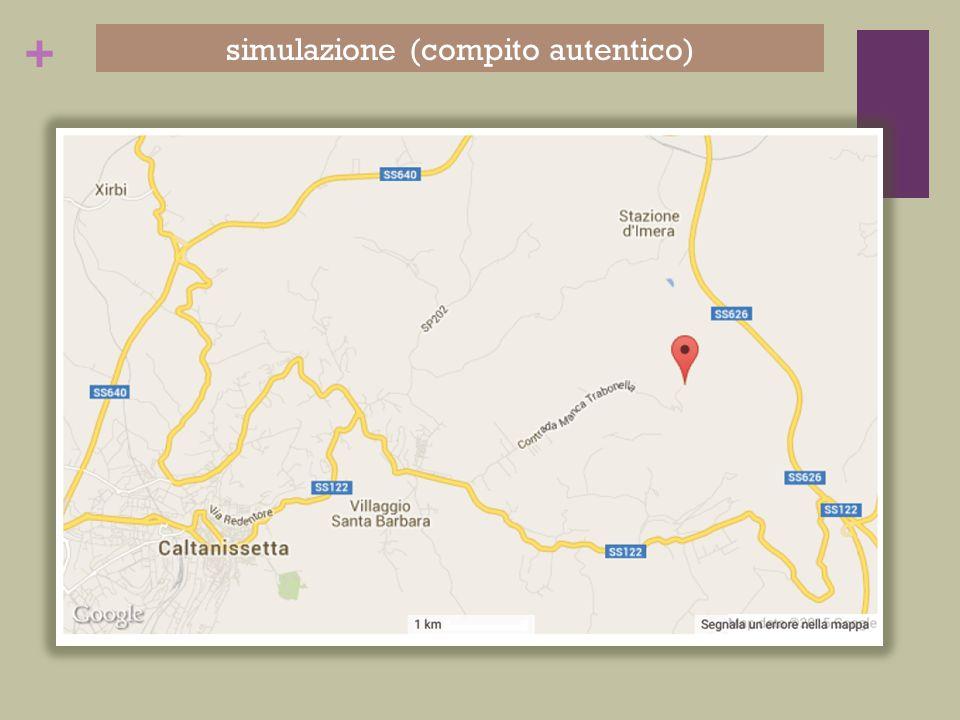 + simulazione (compito autentico)