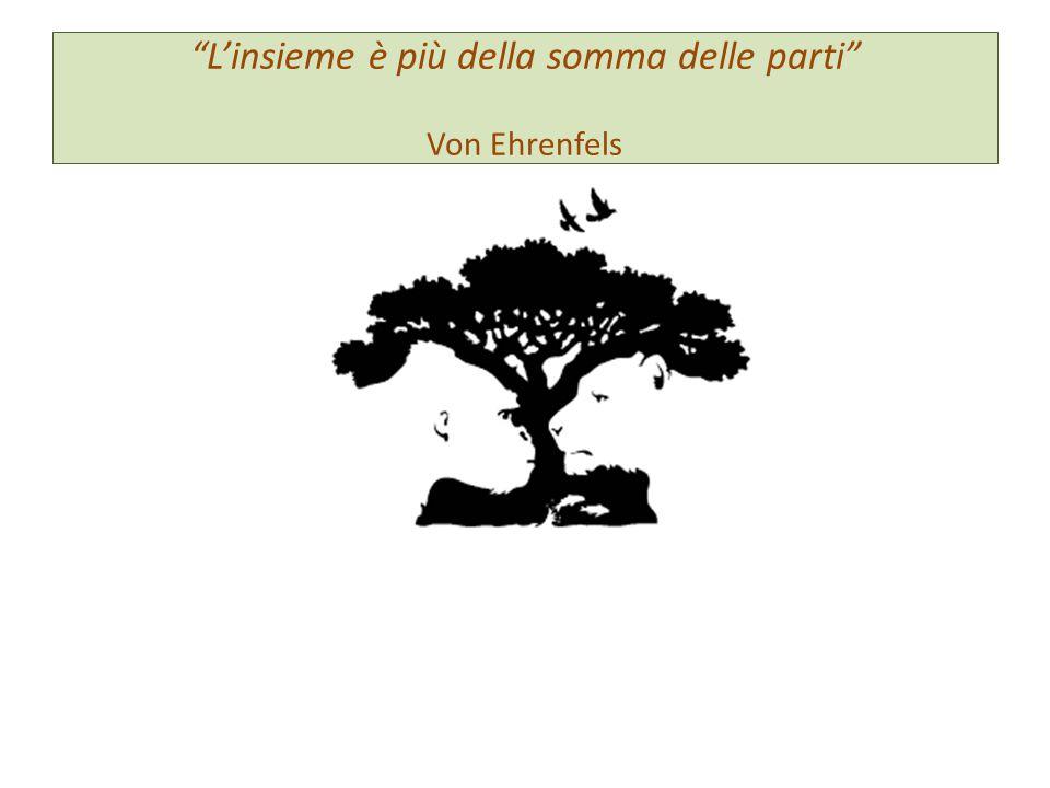 """""""L'insieme è più della somma delle parti"""" Von Ehrenfels"""