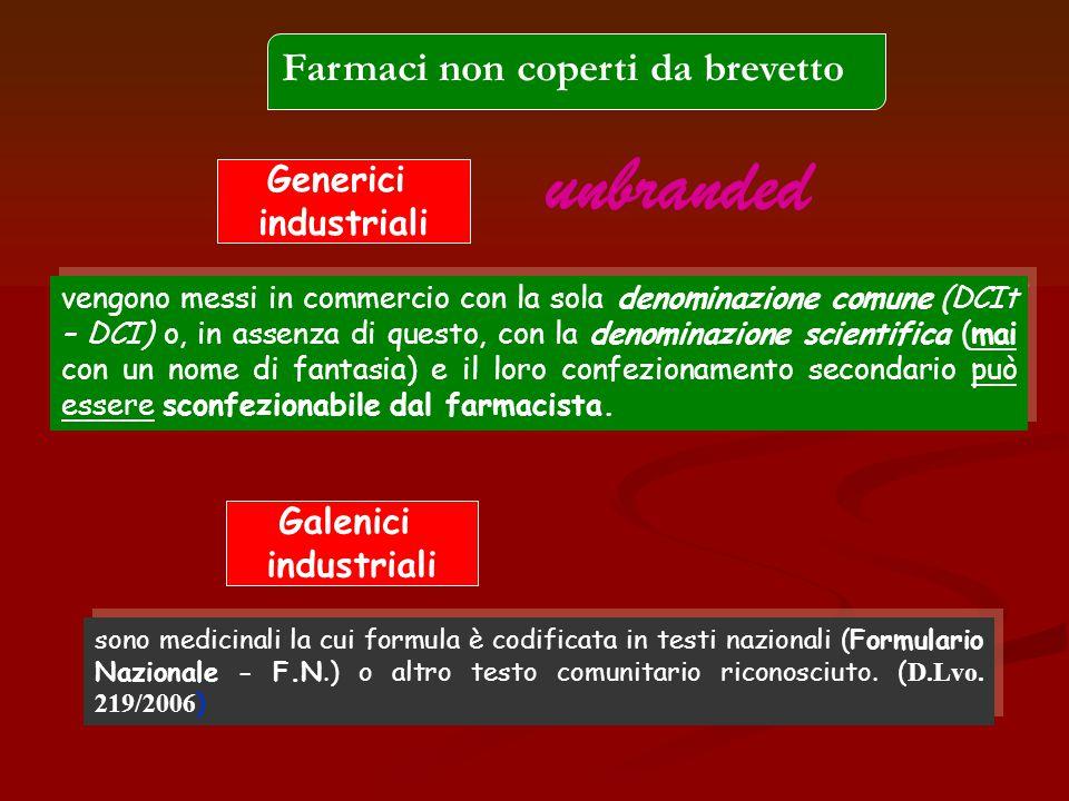 sono medicinali la cui formula è codificata in testi nazionali (Formulario Nazionale - F.N.) o altro testo comunitario riconosciuto. ( D.Lvo. 219/2006