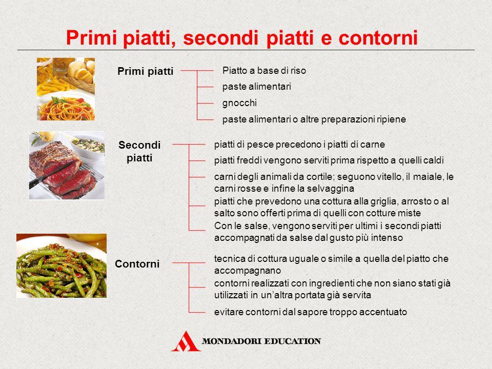 Primi piatti paste alimentari Primi piatti, secondi piatti e contorni gnocchi Piatto a base di riso paste alimentari o altre preparazioni ripiene Seco