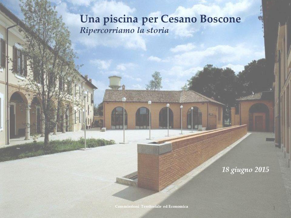 1 Una piscina per Cesano Boscone Ripercorriamo la storia -Commissioni Territoriale ed Economica 18 giugno 2015