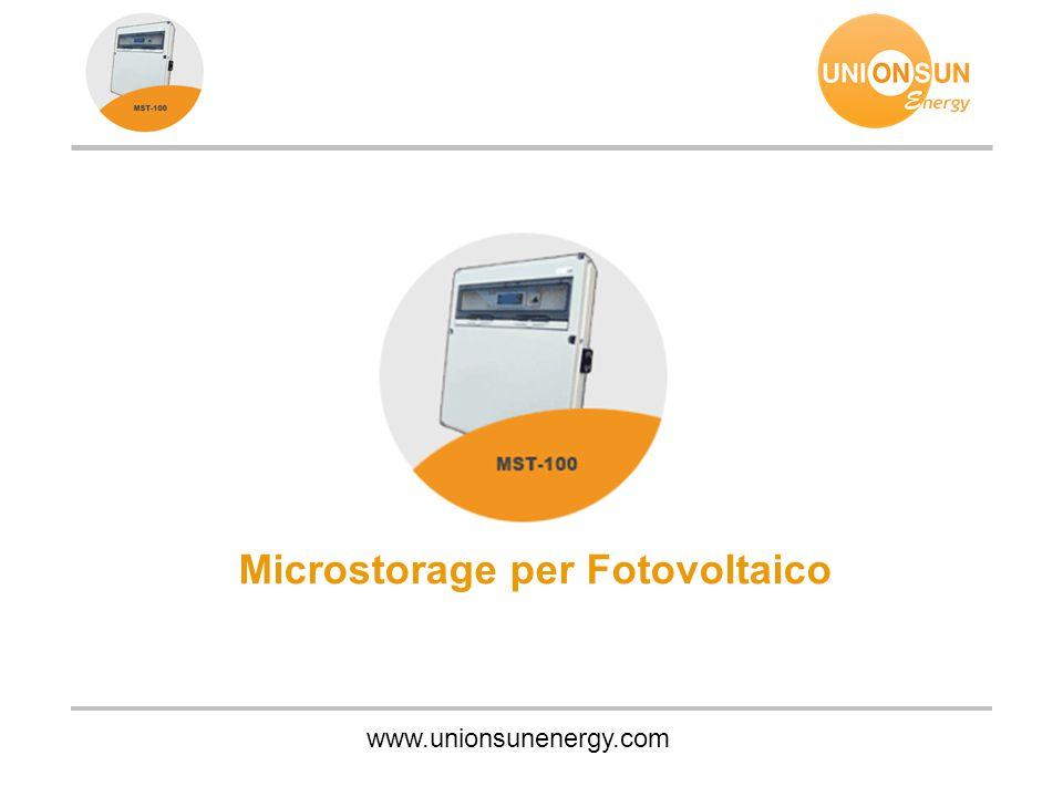 www.unionsunenergy.com Microstorage per Fotovoltaico