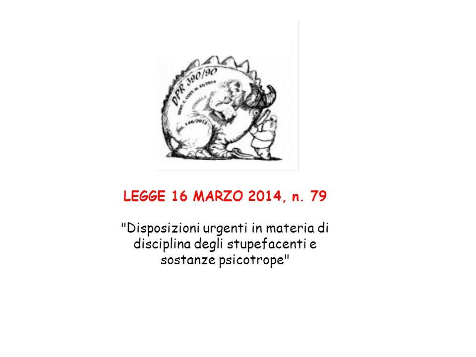 LEGGE 16 MARZO 2014, n. 79