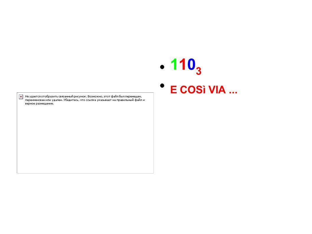 110 3 E COSì VIA...