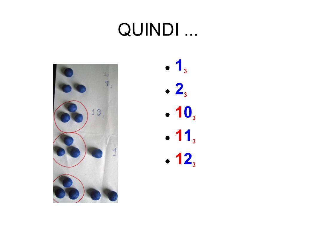 QUINDI... 1 3 2 3 10 3 11 3 12 3