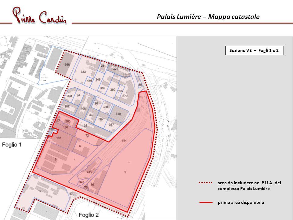 Palais Lumière – Mappa catastale prima area disponibile area da includere nel P.U.A.
