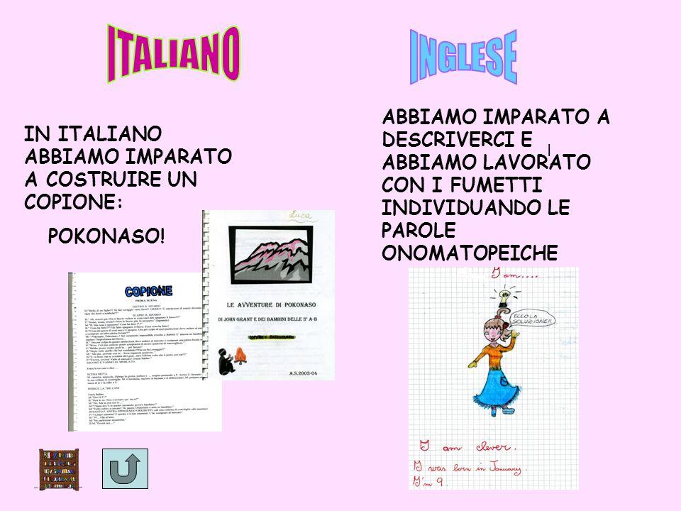 italiano IN ITALIANO ABBIAMO IMPARATO A COSTRUIRE UN COPIONE: POKONASO.